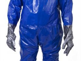Tute monouso anti-contaminazione da schizzi chimici in Blue Laminate